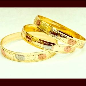 Jewelry - 14K Tri color Gold Plated Bangle Babies size #1.